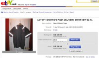 Buying a pizza delivery shirt on eBay is a piece of cake