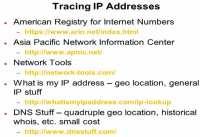 Major IP address tracing tools