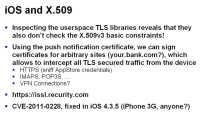 Userland security issue in older iOS versions