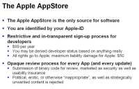 Details of the AppStore – Apple's software repository