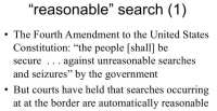 Legal contradictions about border search