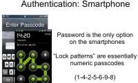 Password / passphrase – the only option