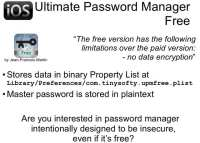 Ultimate Password Manager Free - zero cost but hardly any security