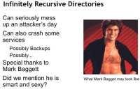 Infinitely recursive directories in a nutshell