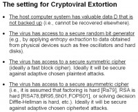 Preconditions for cryptoviral extortion