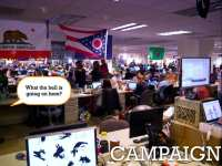 Obama's election headquarters in Chicago