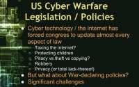 Challenges of US legislation on cyber warfare