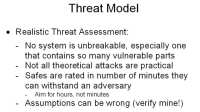 Framework for a threat model