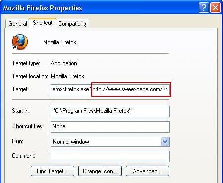 Fix the Firefox shortcut