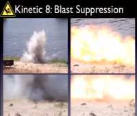 Still frames from the explosion