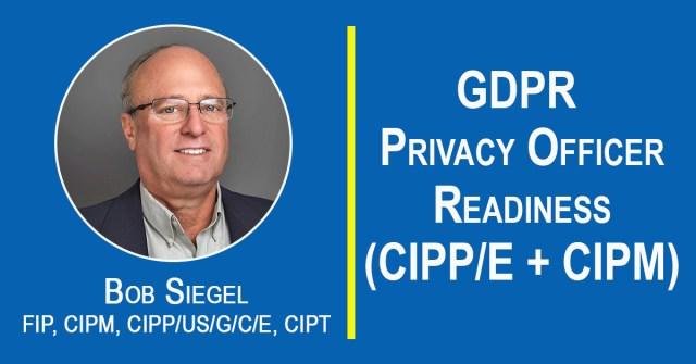 Bob Siegel teaching GDPR Privacy Officer Readiness