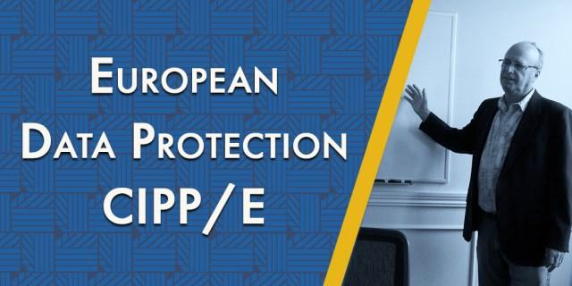 Bob Siegel teaching European Data Protection (CIPP/E)