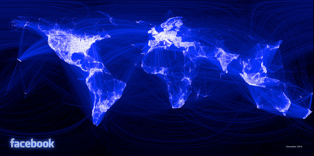 facebook connections world map