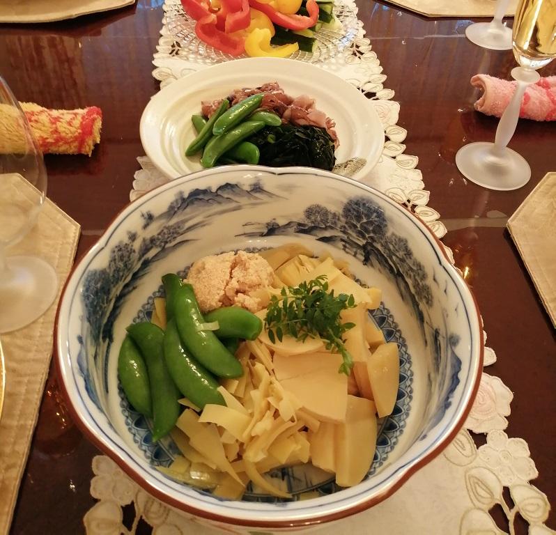 マンツーマン、料理教室、人気メニュー、筍の土佐煮