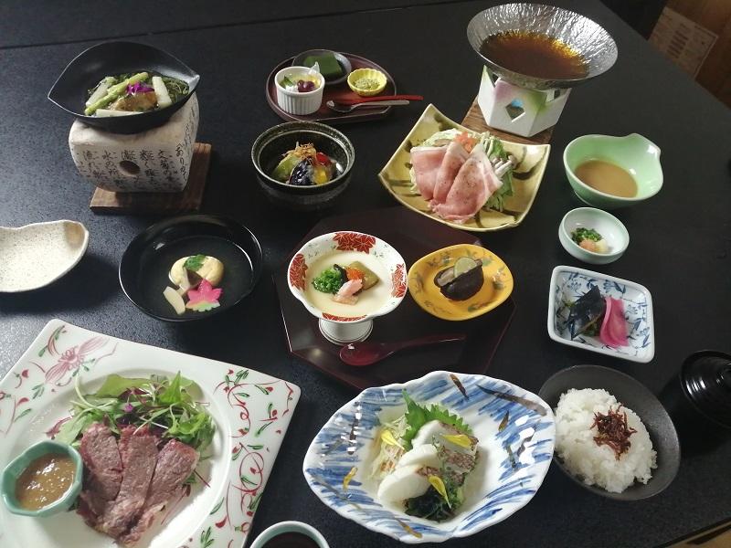 伊香保温泉、晴観荘、料理