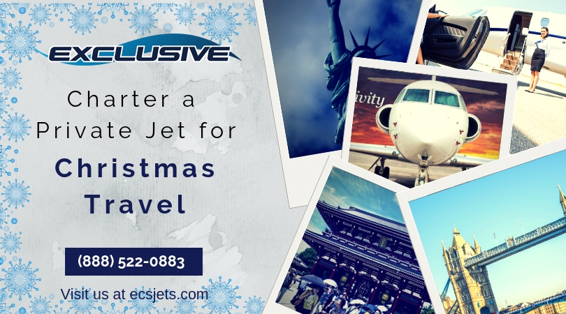 Charter a Private Jet for Christmas