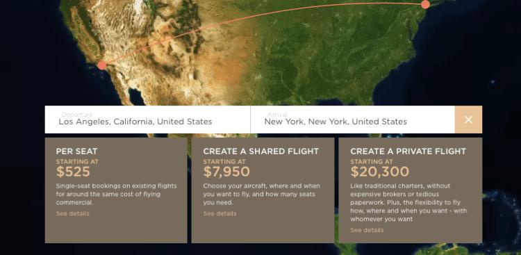JetSmarter pricing