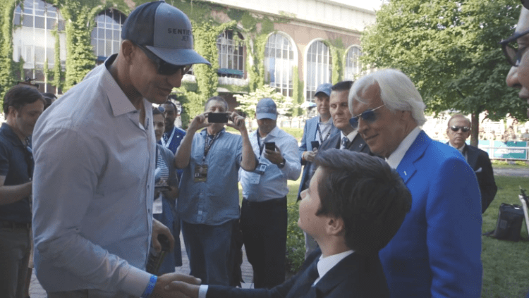 Triple Crown trainer Bob Baffert and Sentient Jet ambassador Rob Gronkowski