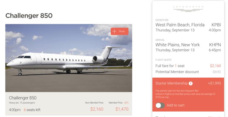 JetSmarter membership cost