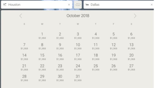 Houston to Dallas JetSmarter private jet pricing