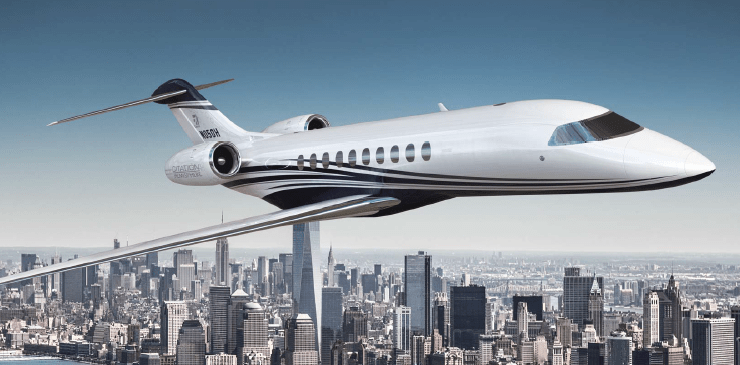NetJet Cessna Hemisphere large cabin jet