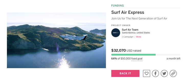 Surf Air Express offers by the flight pricing