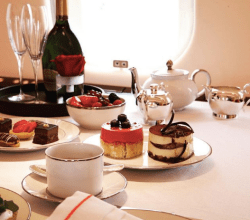 VistaJet private jet fine dining