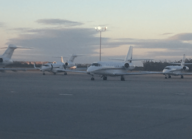 2018 number of private jet flights