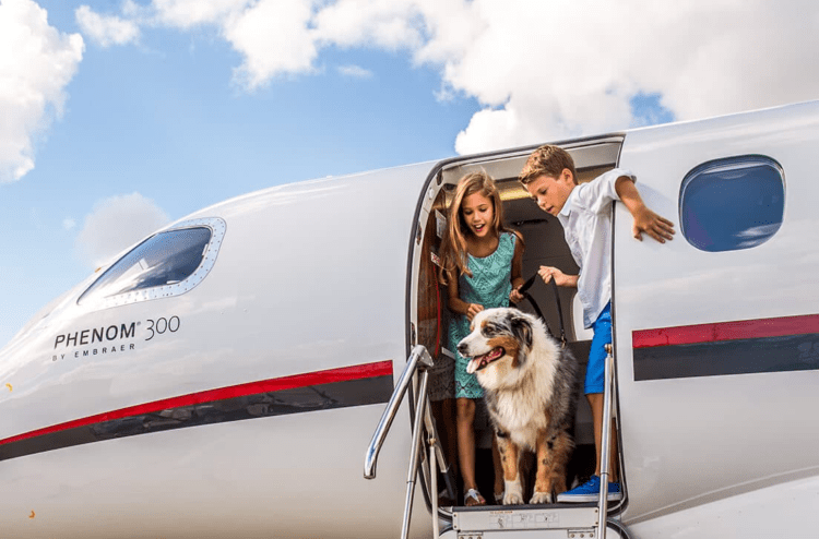Can you bring pets on a private jet?