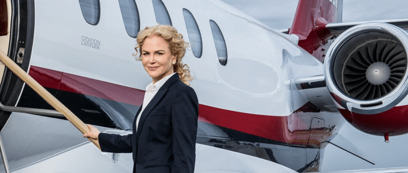 Nicole Kidman's private jet Nicholas Air