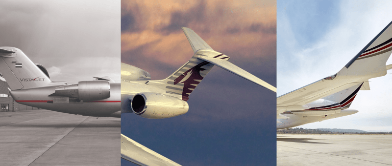 NetJets compared to VistaJet and Qatar Executive