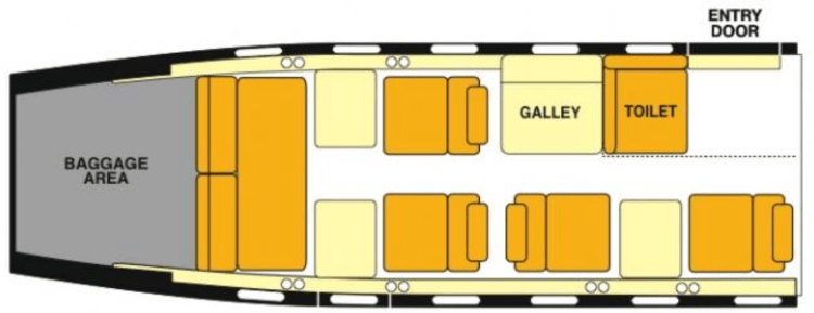 Learjet 35 cabin layout
