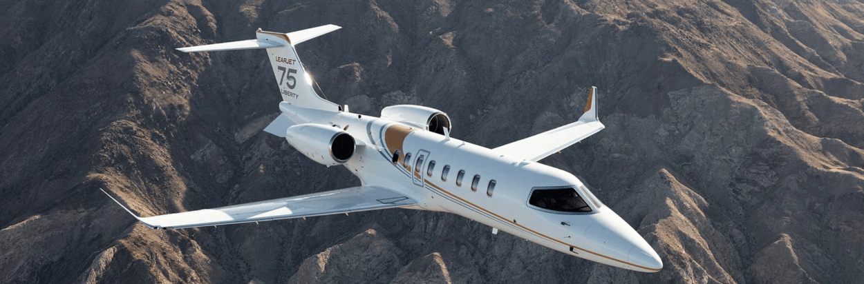 Learjet private jet guide