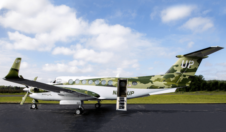 Wheels Up Cares Camouflage King Air 350i