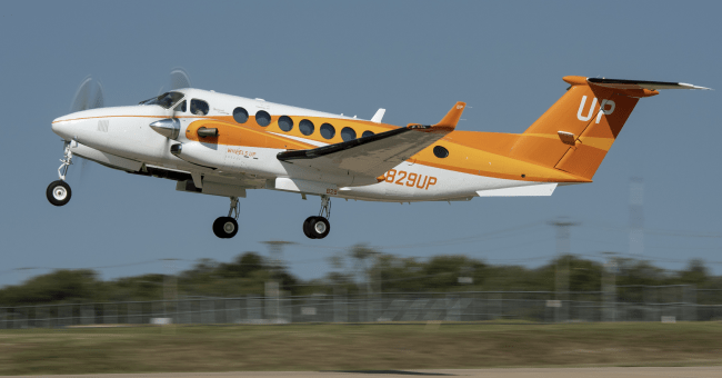 Wheels Up Orange King Air 350i