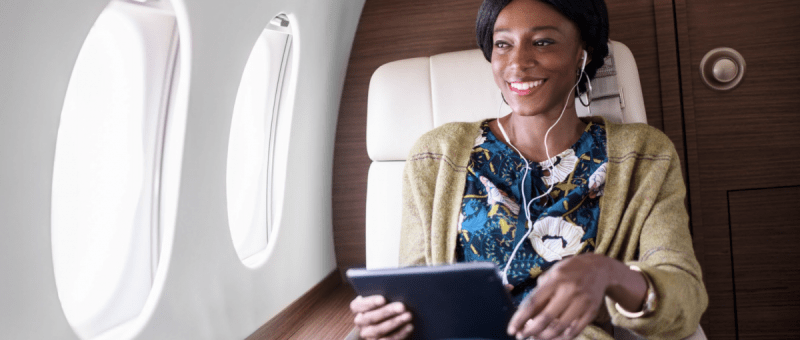 Gogo private jet Wifi