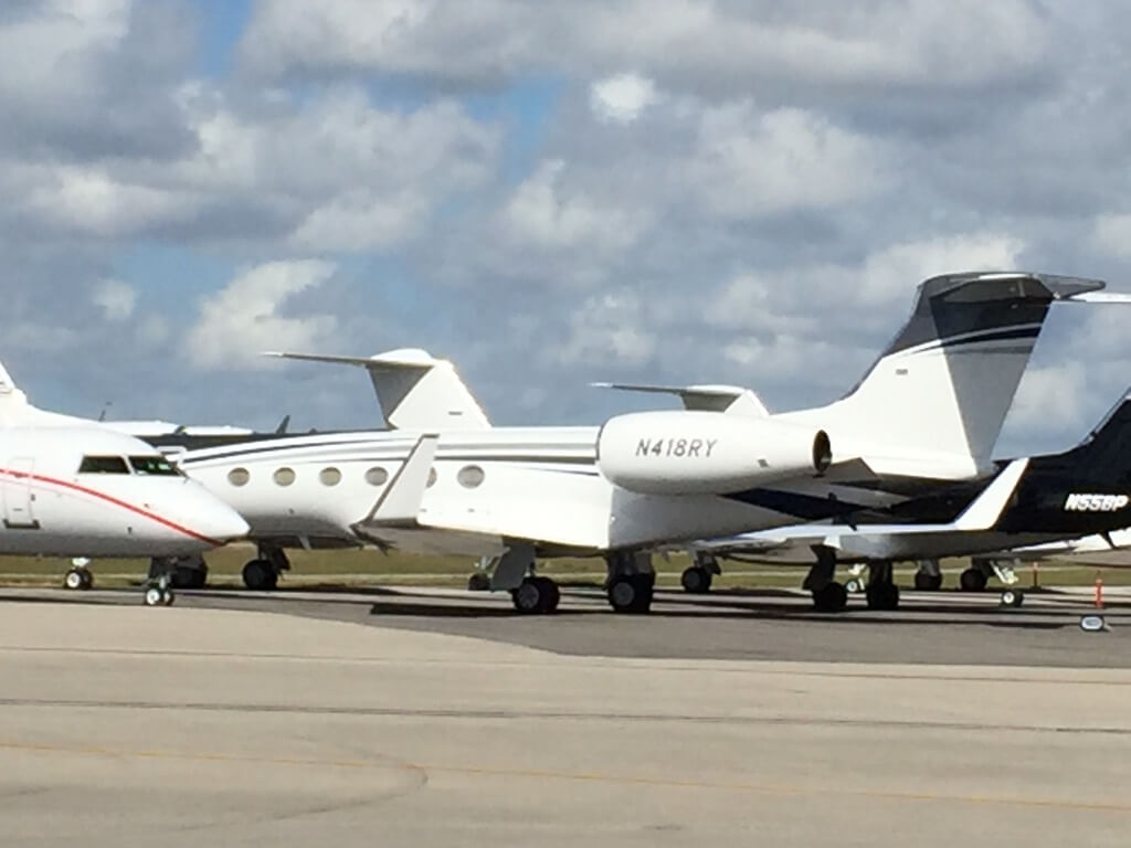 private jets at Opa Locka