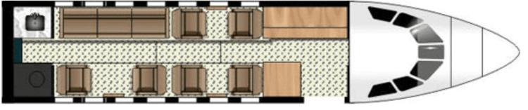 Falcon 50 interior layout