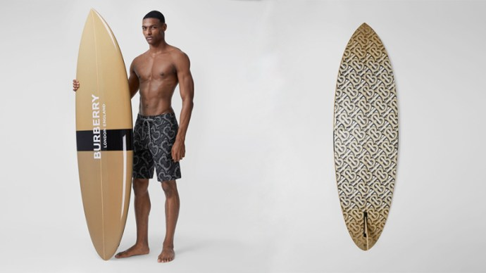 Burberry Monogram-Print Surfboard