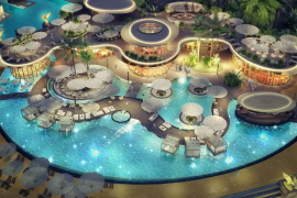 A $5 billion megaresort is being built on a set of 6 outrageously themed islands