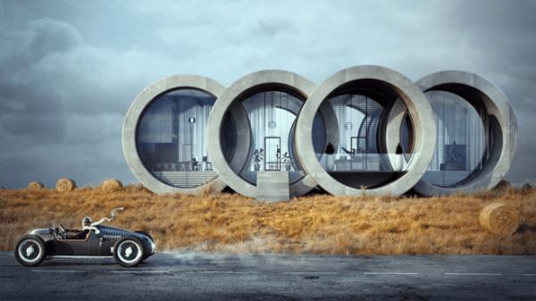 Concept Home Based on Audi's Logo
