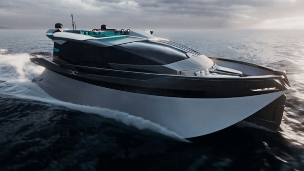 A 25-meter trimonoran yacht concept named Escalade