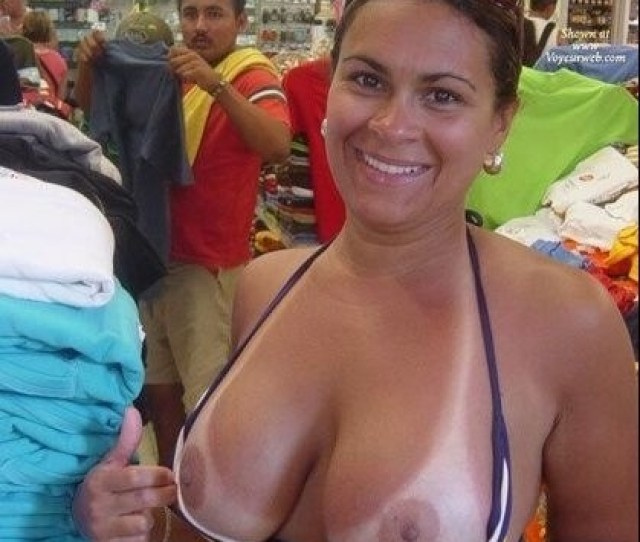 Hot Amateur Milf Flashing Her Big Tits In A Public Store