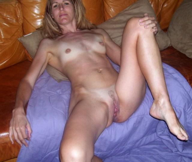 Skinny Amateur Milf Naked On The Sofa