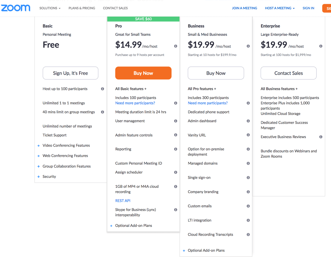 Zoom Telehealth Pricing