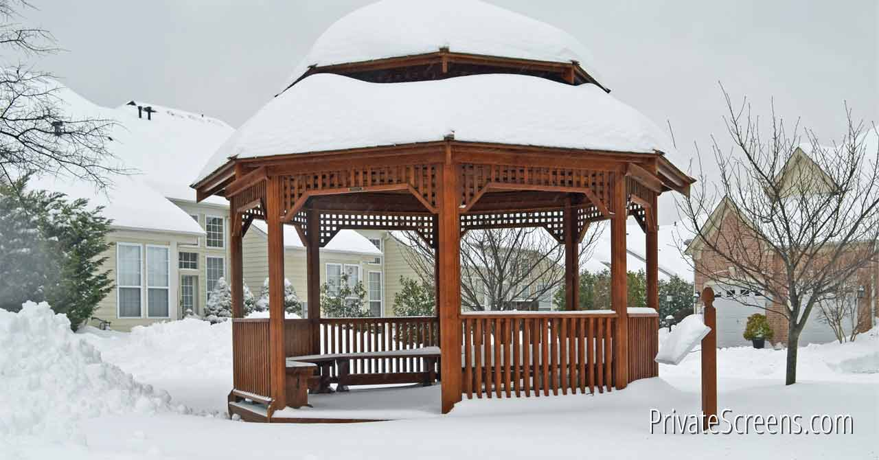 7 Ways To Stay Warm And Toasty In Your Gazebo This Winter