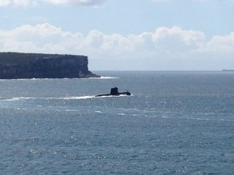 There is a submarine in the harbour!!