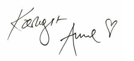 Kærlig hilsen Anne Ruby