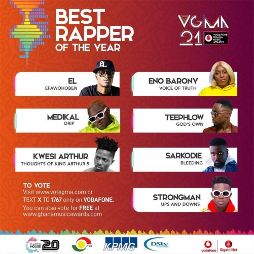 VGMA 2020: Best Rapper of the Year(Sarkodie)