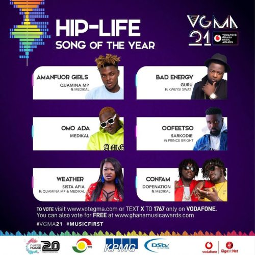 Hip-Life song of the year (Sarkodie - Ofeesto ft. Prince Bright)